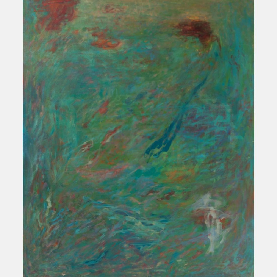 Al Newbill (1921-2012) Untitled, Oil on canvas,