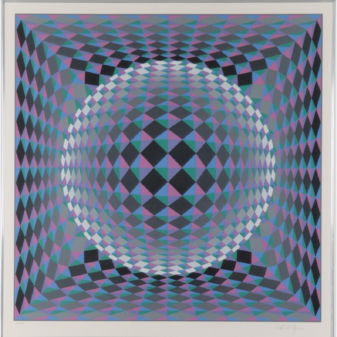 Victor Vasarely (1906-1997) Geometric Circle,
