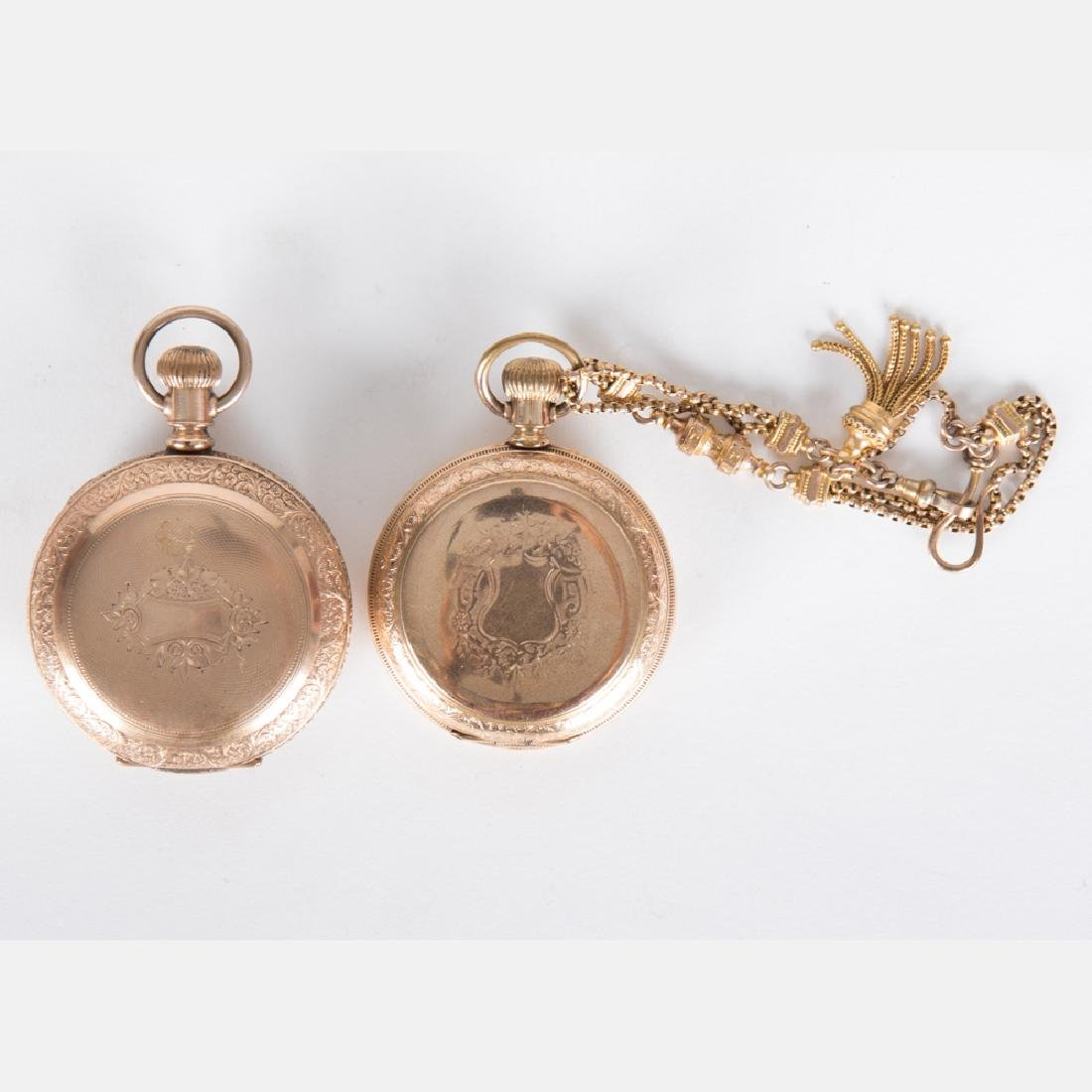 Two Elgin Gold Plated Hunter's Case Pocket Watches,