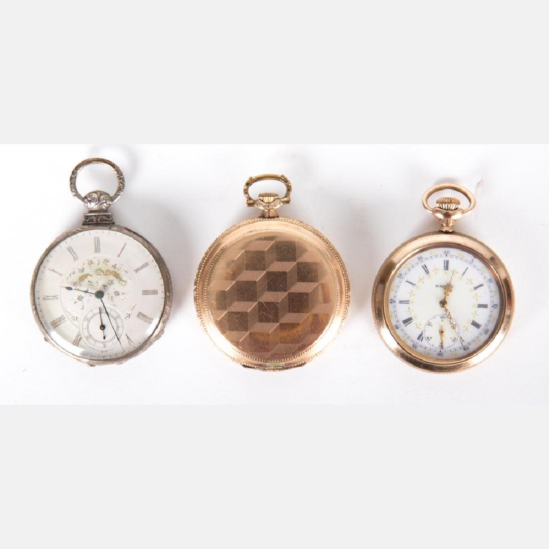 A Group of Three Gold Plated Pocket Watches by Various