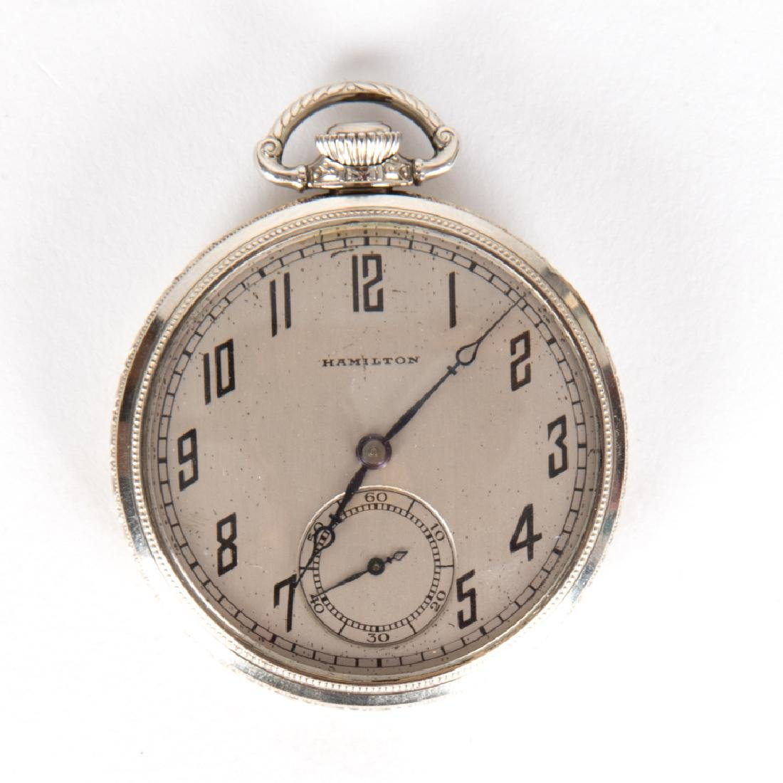 A Hamilton 14kt. Gold Filled Pocket Watch, 20th