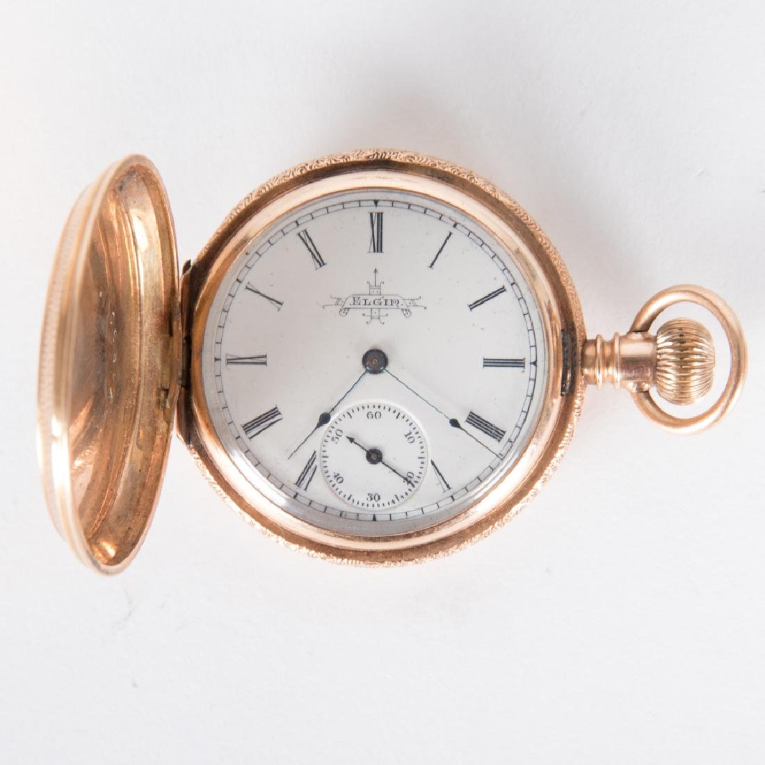 An Elgin 14kt. Rose Gold Pocket Watch, 20th Century.