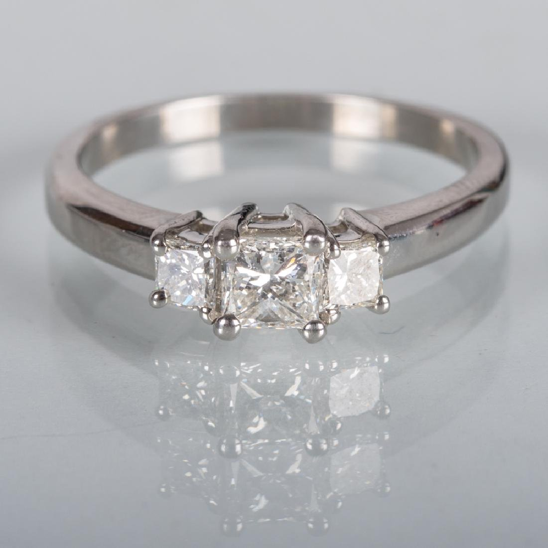 A Platinum and Diamond Ring,