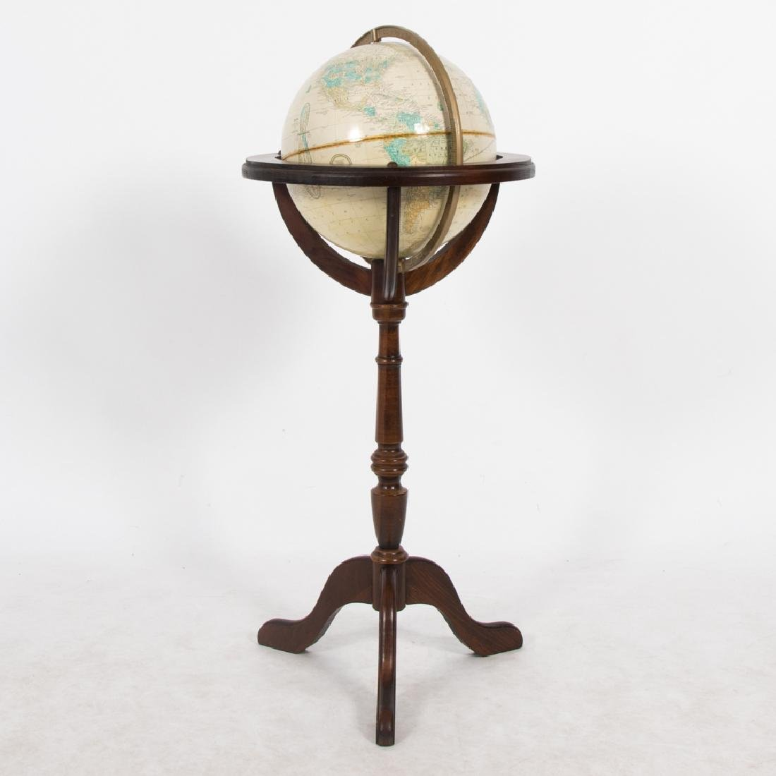 A Cram's Imperial World Globe on Stained Pine Stand,