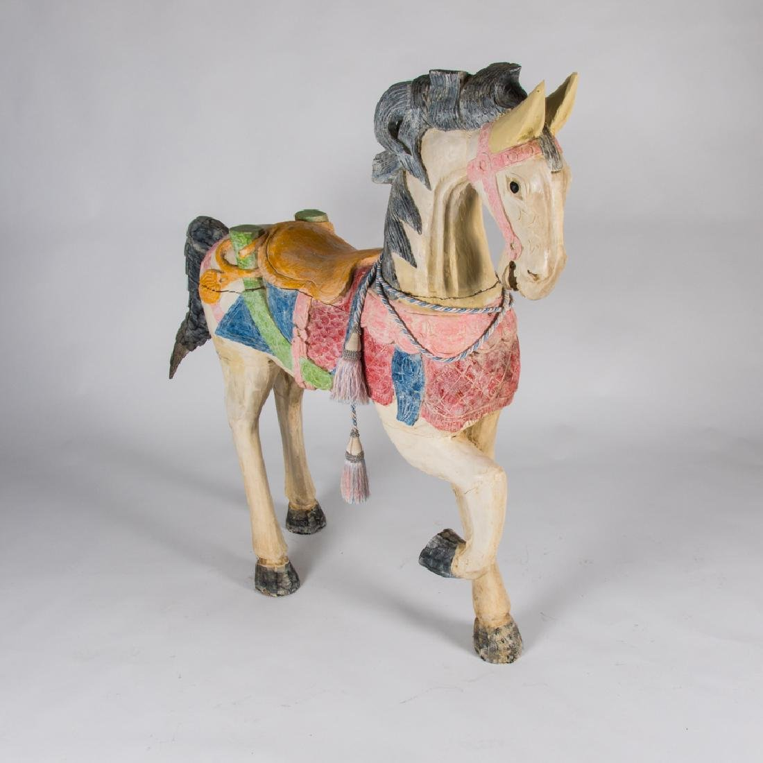 A Carved and Painted Hardwood Carousel Horse, 20th