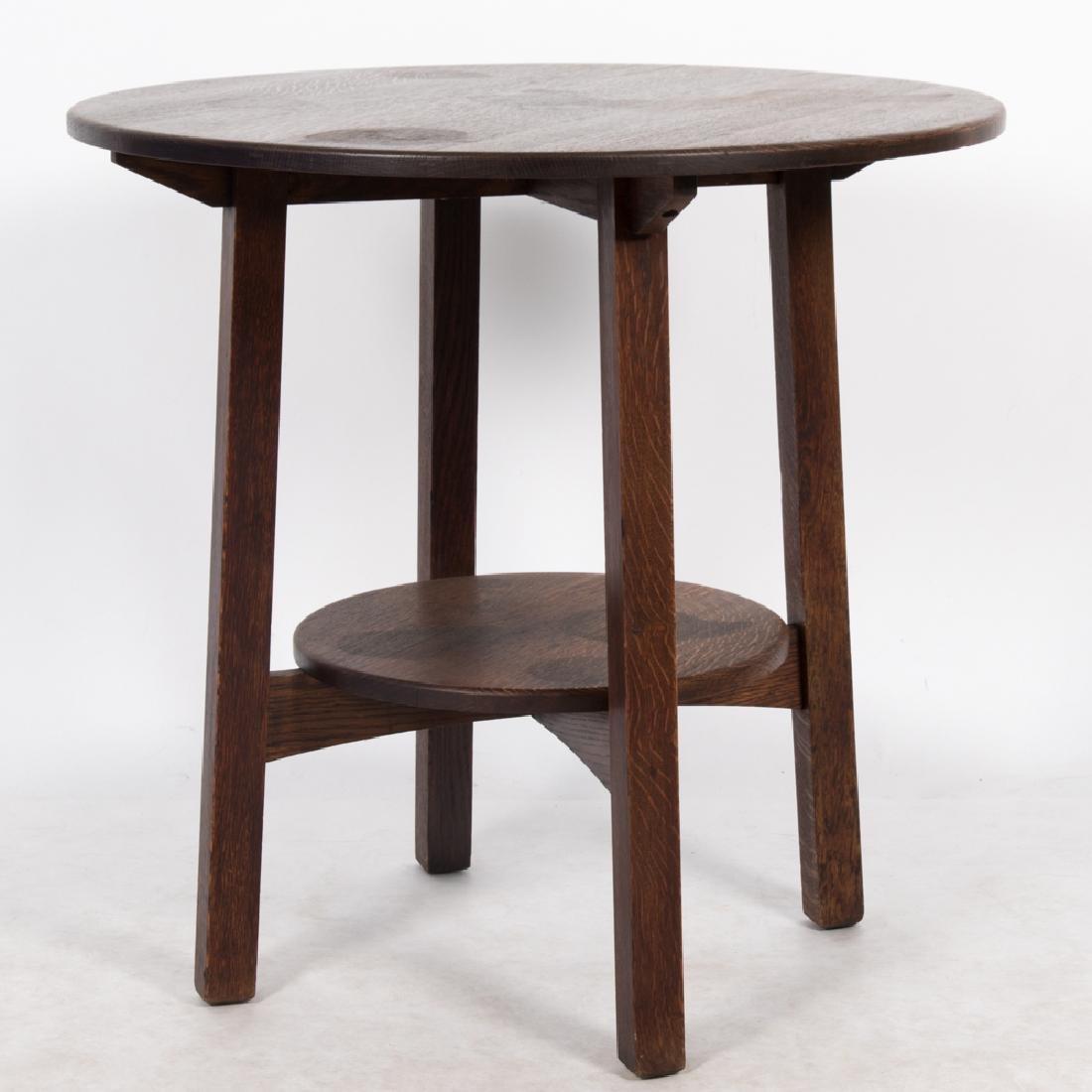 A Limbert Oak Lamp Table, 20th Century,