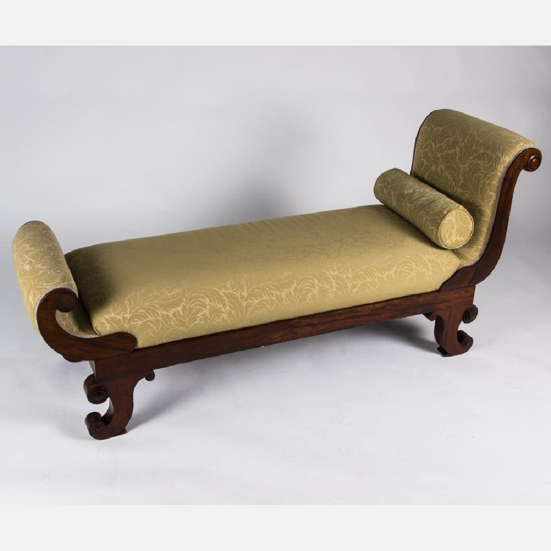 An Empire Style Mahogany Chaise Lounge, 19th Century.