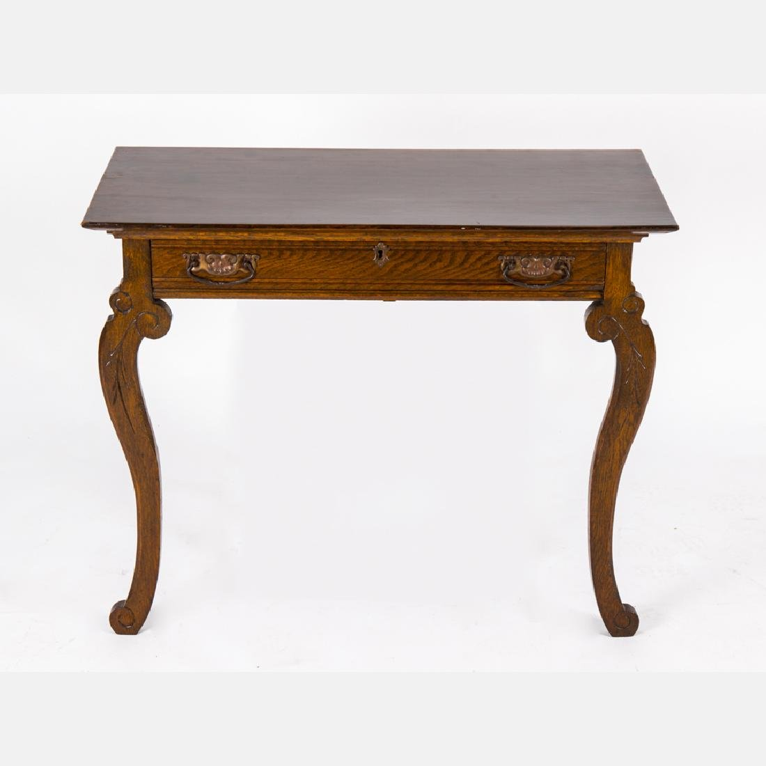 A Victorian Oak Hanging Console Table, 19th Century.
