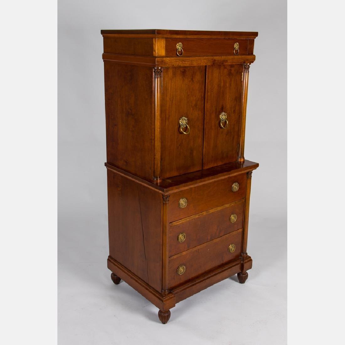 A Regency Style Mahogany Cabinet, 20th Century.