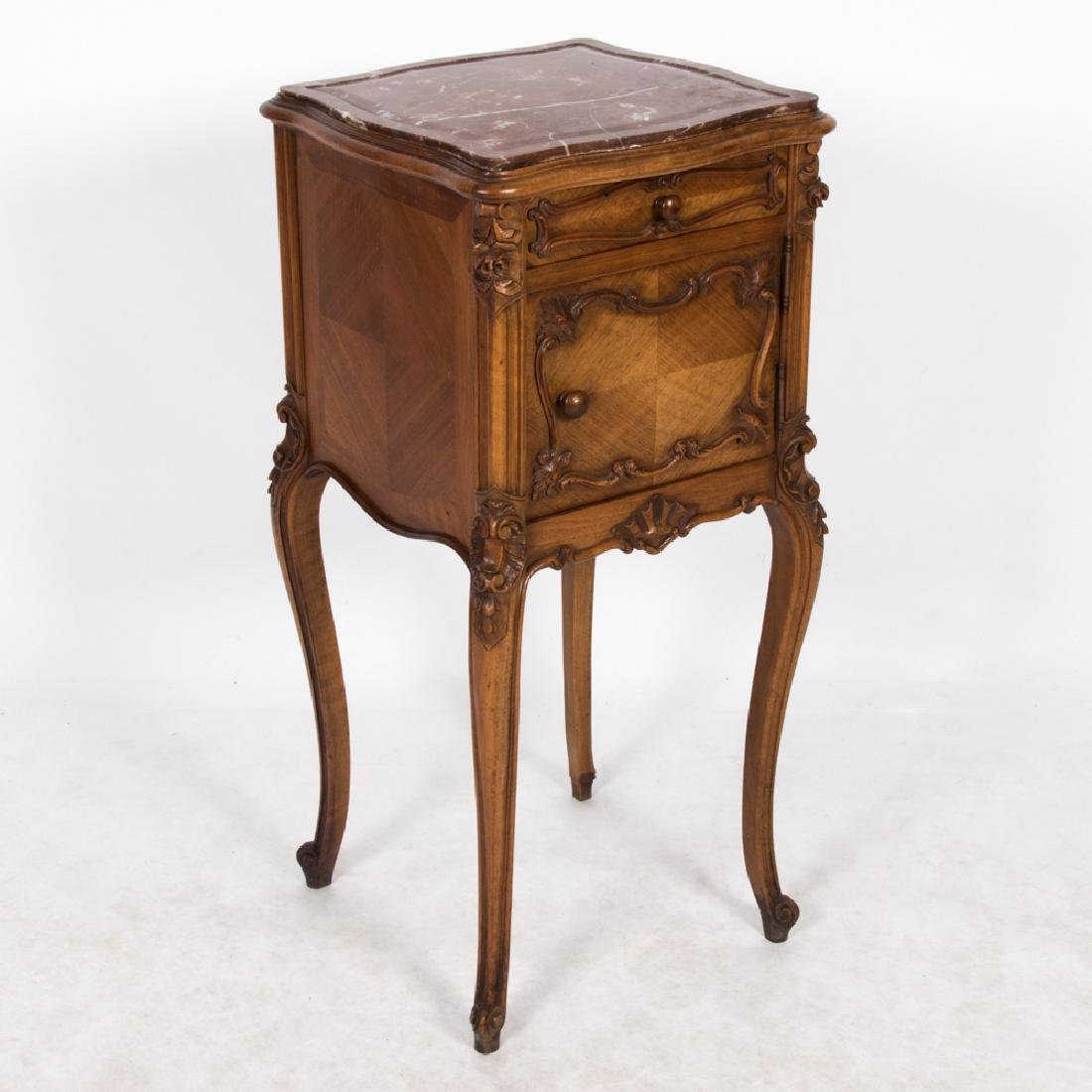 A French Provincial Style Walnut Side Cabinet with