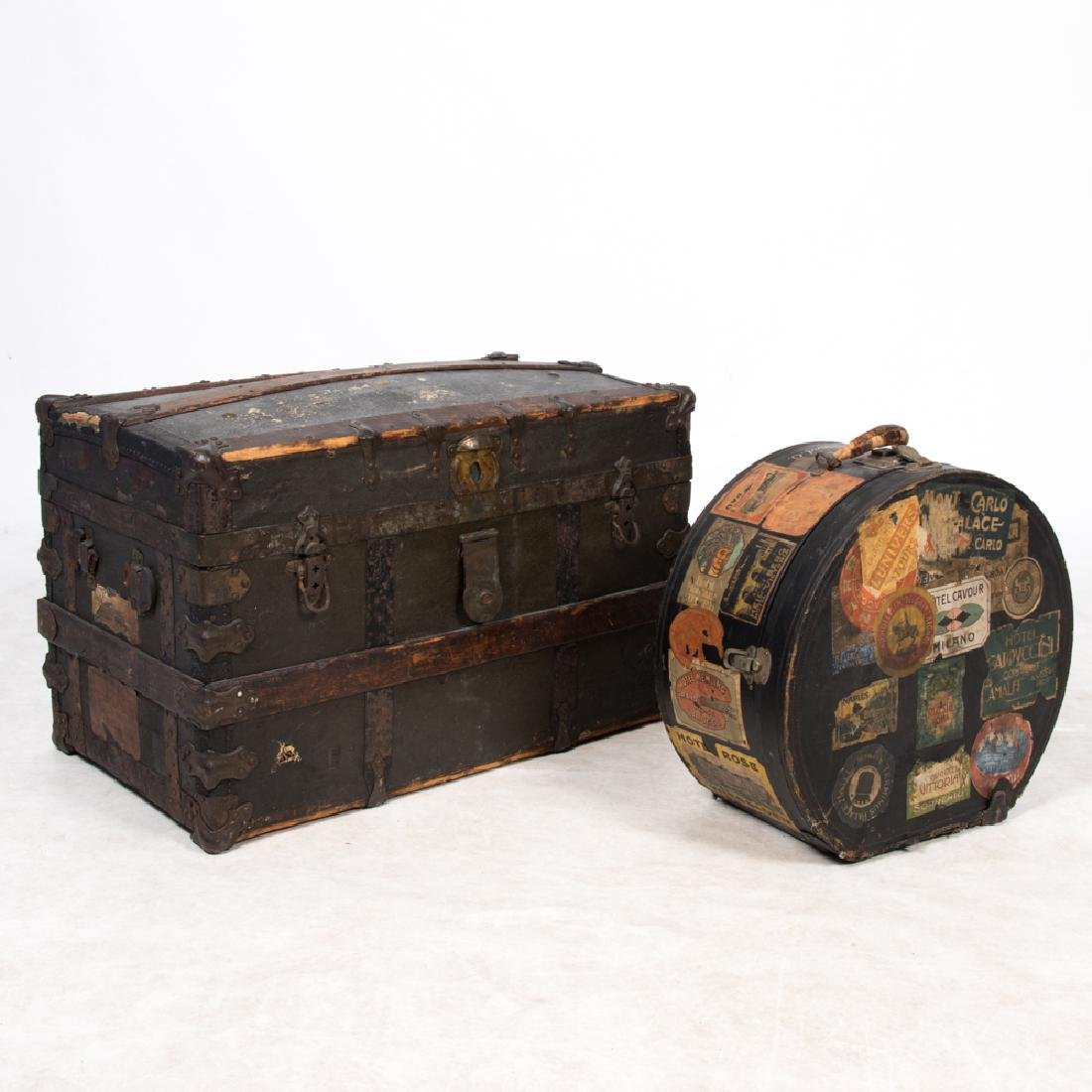 An Antique Domed Trunk, 19th-20th Century,