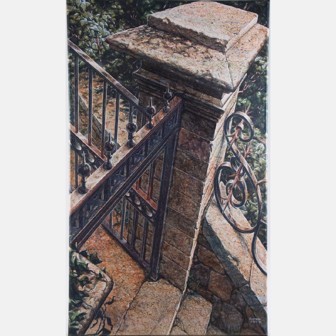George Kozmon (b. 1960) Nimes I, Acrylic on canvas,