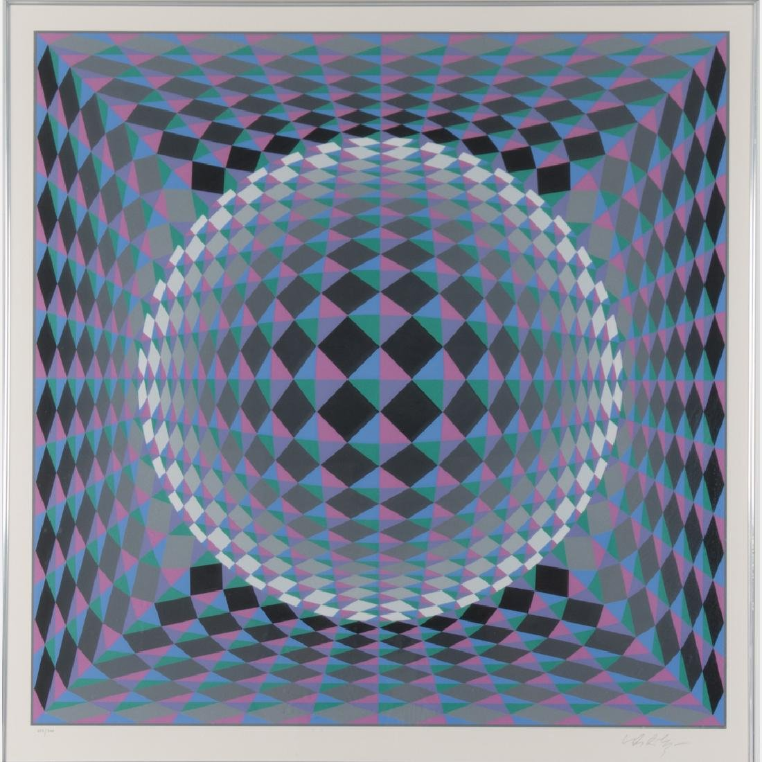 Victor Vasarely (1906-1997) Geometric Circle,