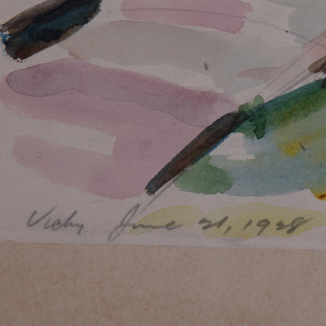 A Miscellaneous Collection of Watercolors on Paper By - 5