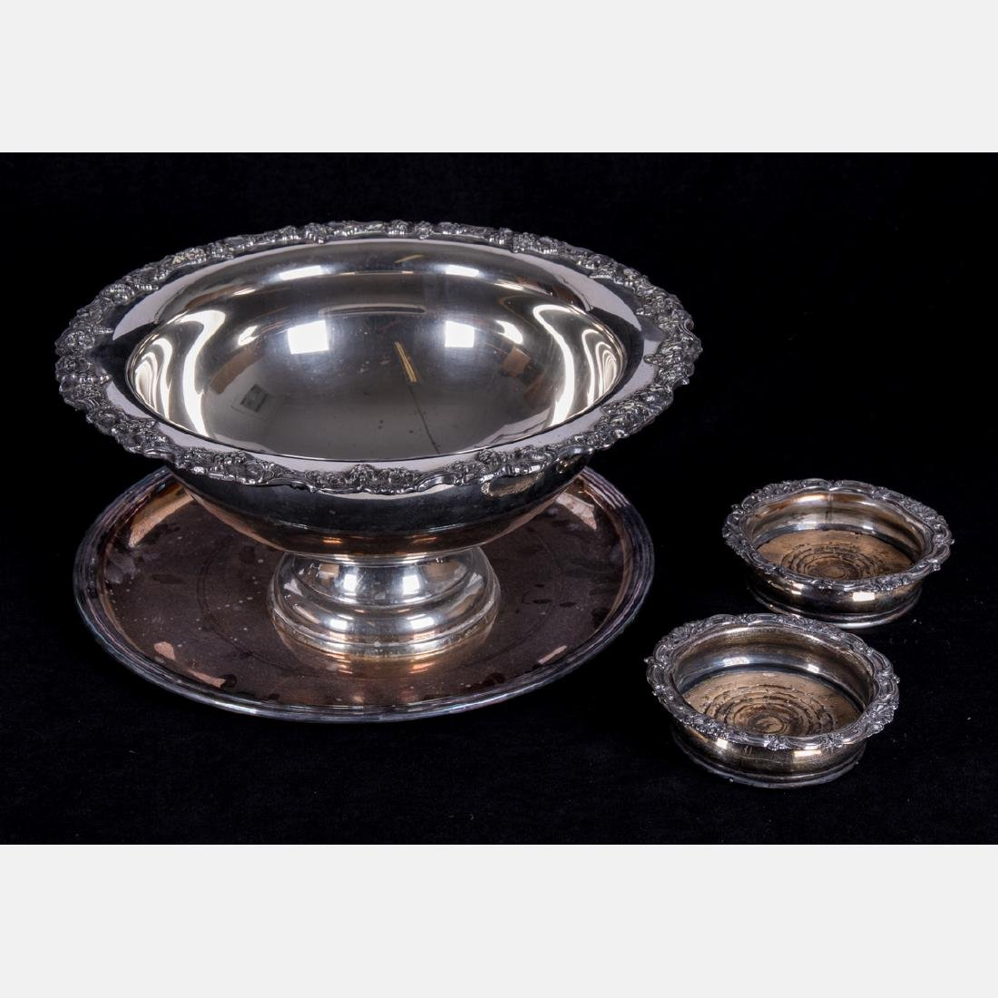 A Group of Four Silverplated Serving Items, 20th