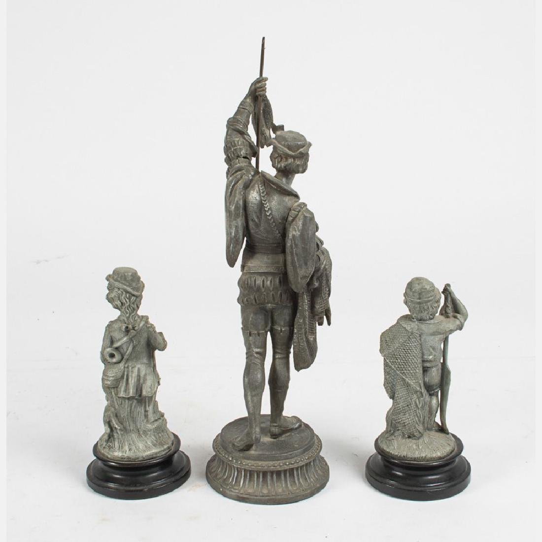 A Group of Three Spelter Figures, 20th Century. - 2