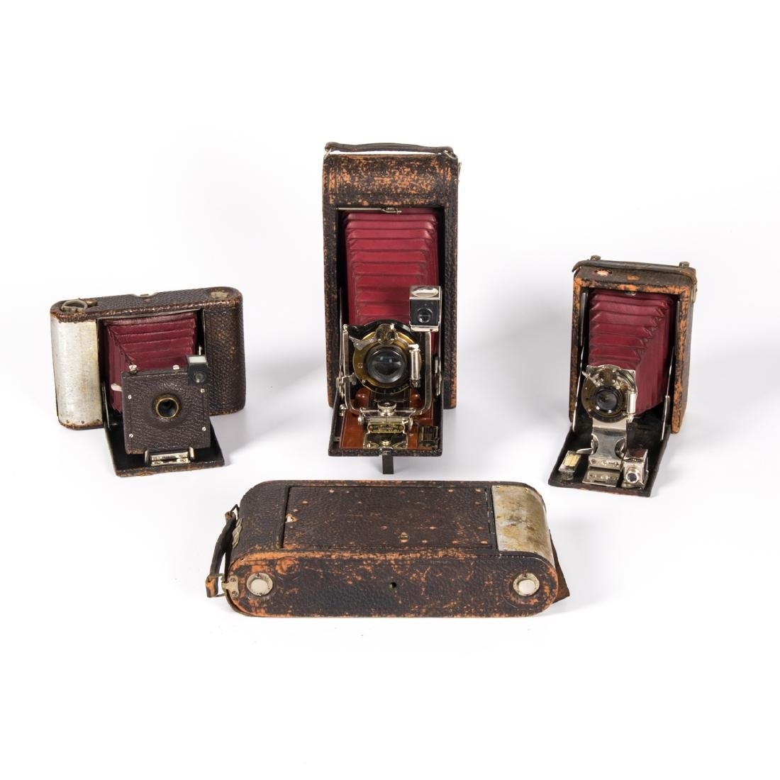 A Group of Four Vintage Cameras by Various Makers, 20th