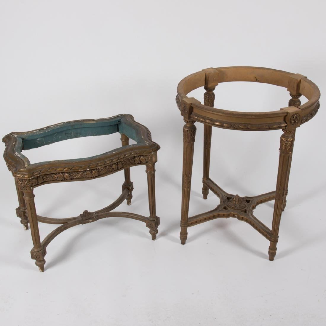 Two Louis XVI Style Giltwood Side Tables, 20th Century.
