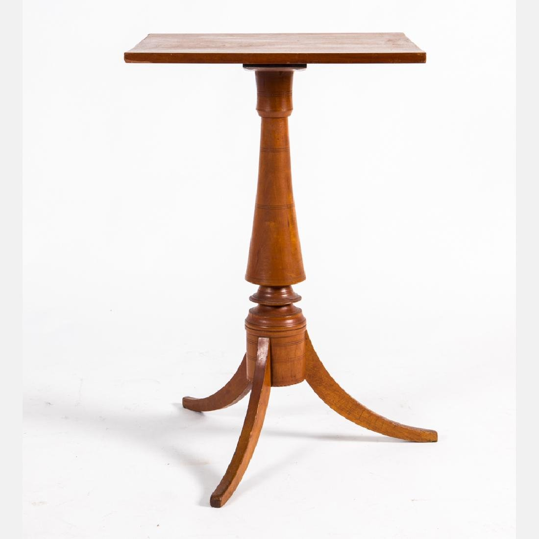 An American Cherry Side Table, Early 20th Century.