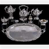 An Exceptional German Silver Tea and Coffee Service by