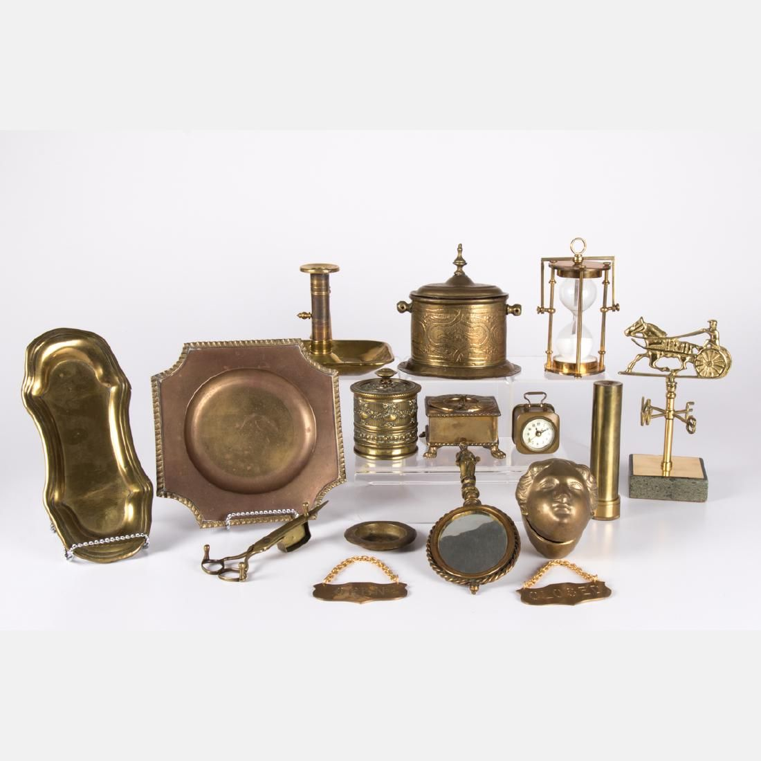 A Miscellaneous Collection of Brass Serving and