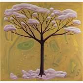 Scott Miller (1955-2008) Winter Tree, Oil on canvas,