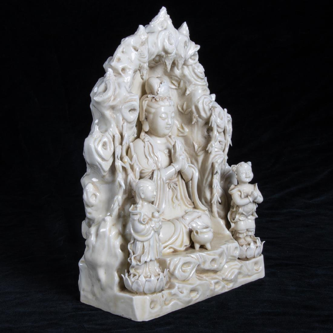 A Chinese Porcelain Blanc de Chine Figure of Guanyin, - 2