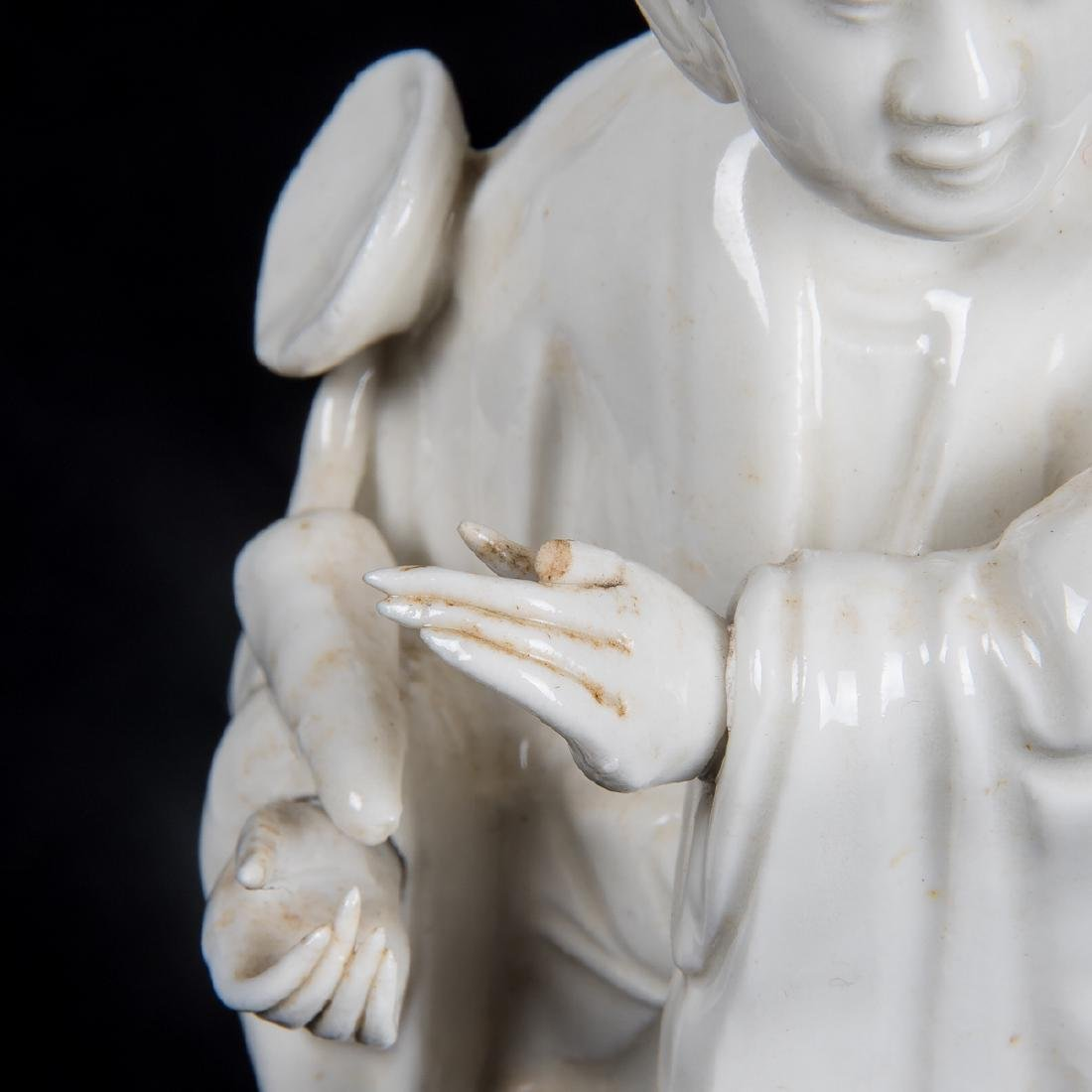 A Chinese Porcelain Blanc de Chine Figure of Guanyin, - 3