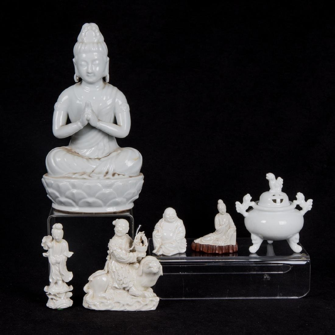 A Group of Six Chinese Porcelain Blanc de Chine