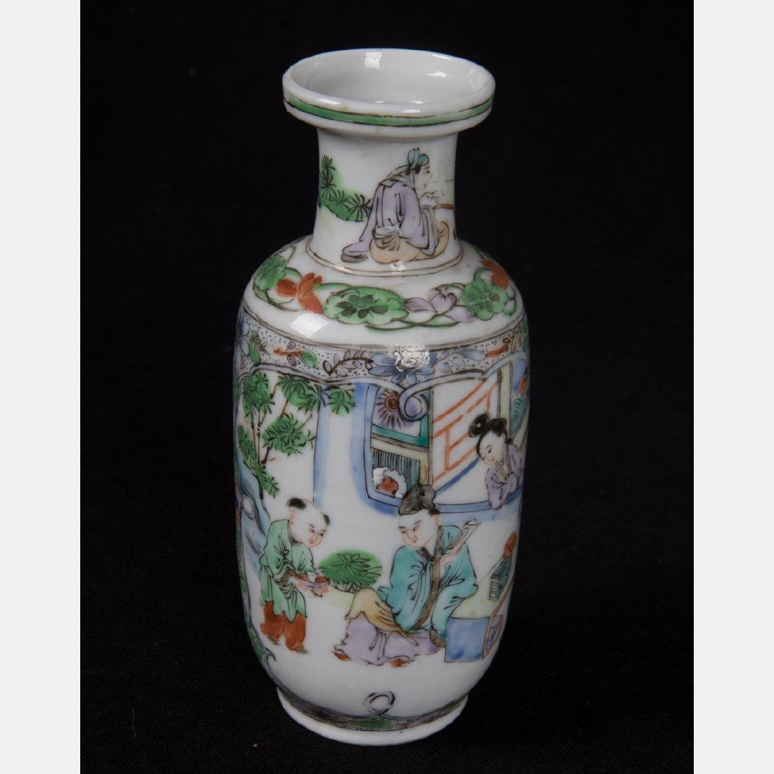 A Group of Three Diminutive Chinese Porcelain Vases, - 5