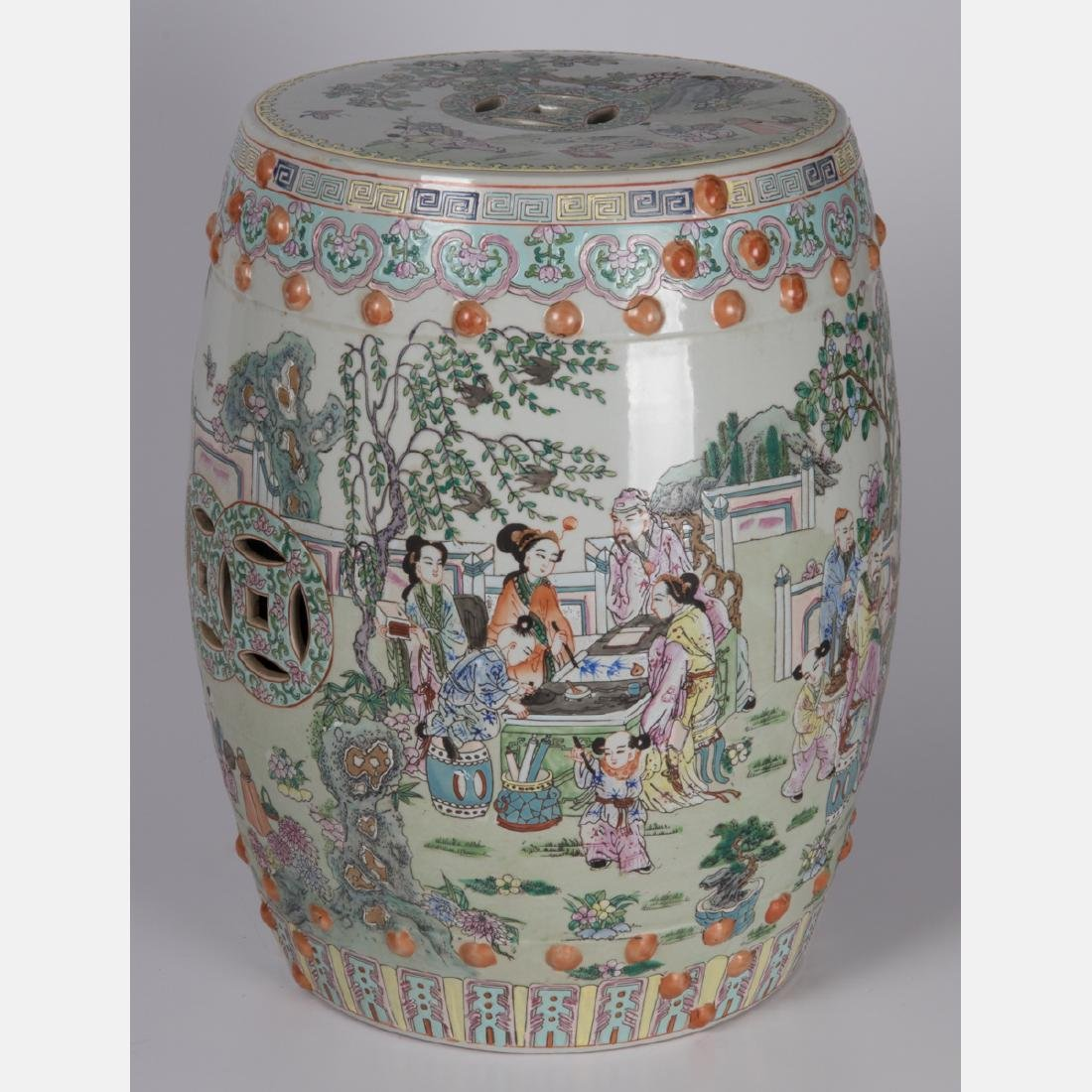 A Chinese Porcelain Garden Seat, 20th Century.