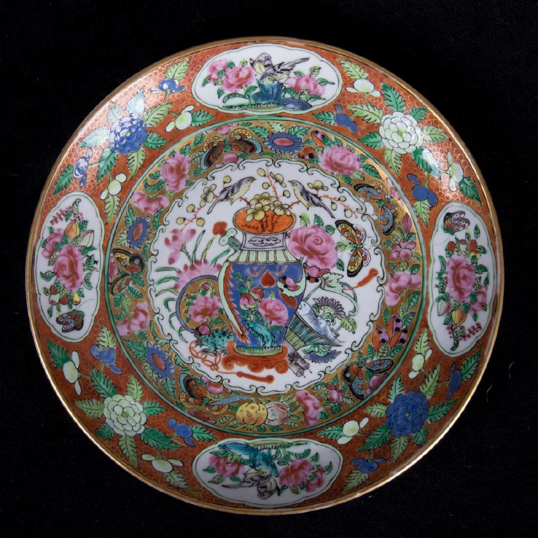 A Group of Three Chinese Rose Medallion Porcelain - 2