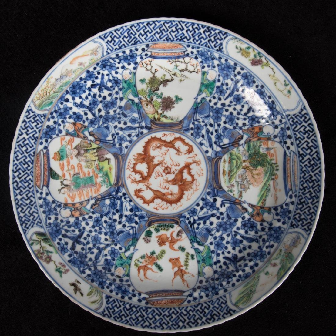 A Group of Three Chinese Porcelain Plates, 19th - 6