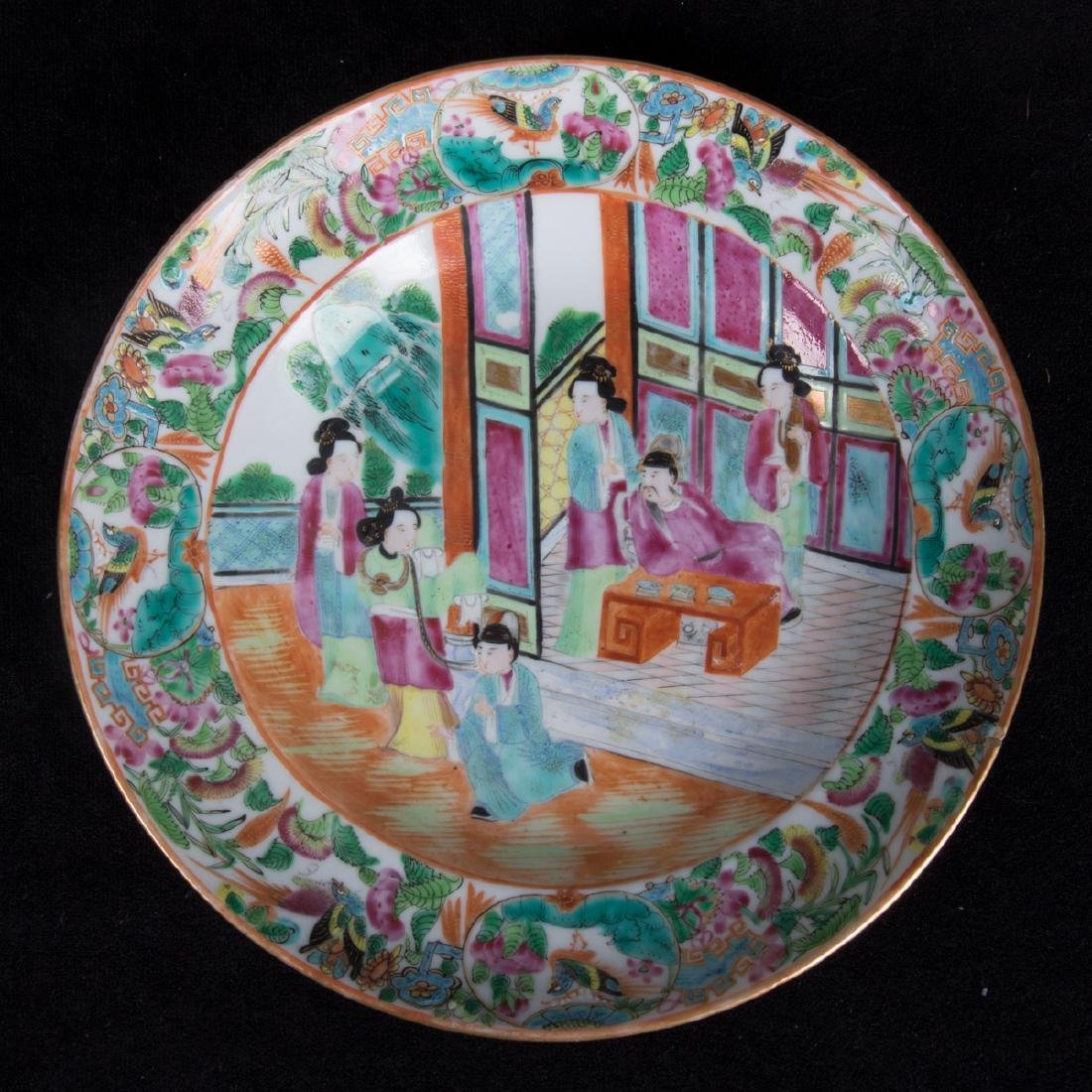 A Group of Four Chinese Famille Rose Porcelain Plates, - 3
