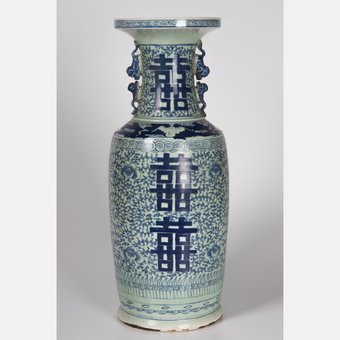 A Chinese Blue and White Porcelain Vase, 19th/20th