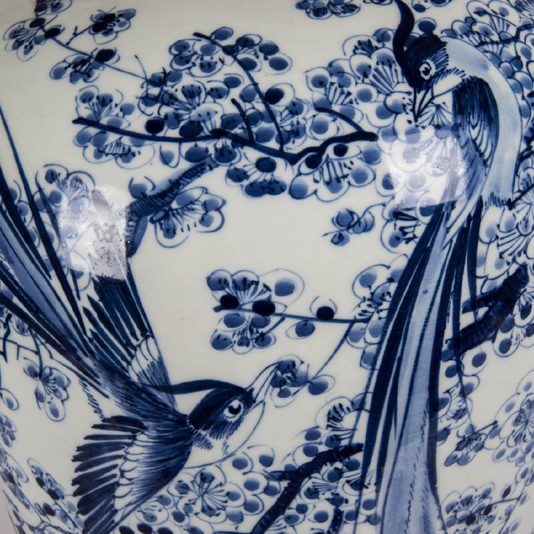A Chinese Blue and White Porcelain Vase, 20th Century. - 2