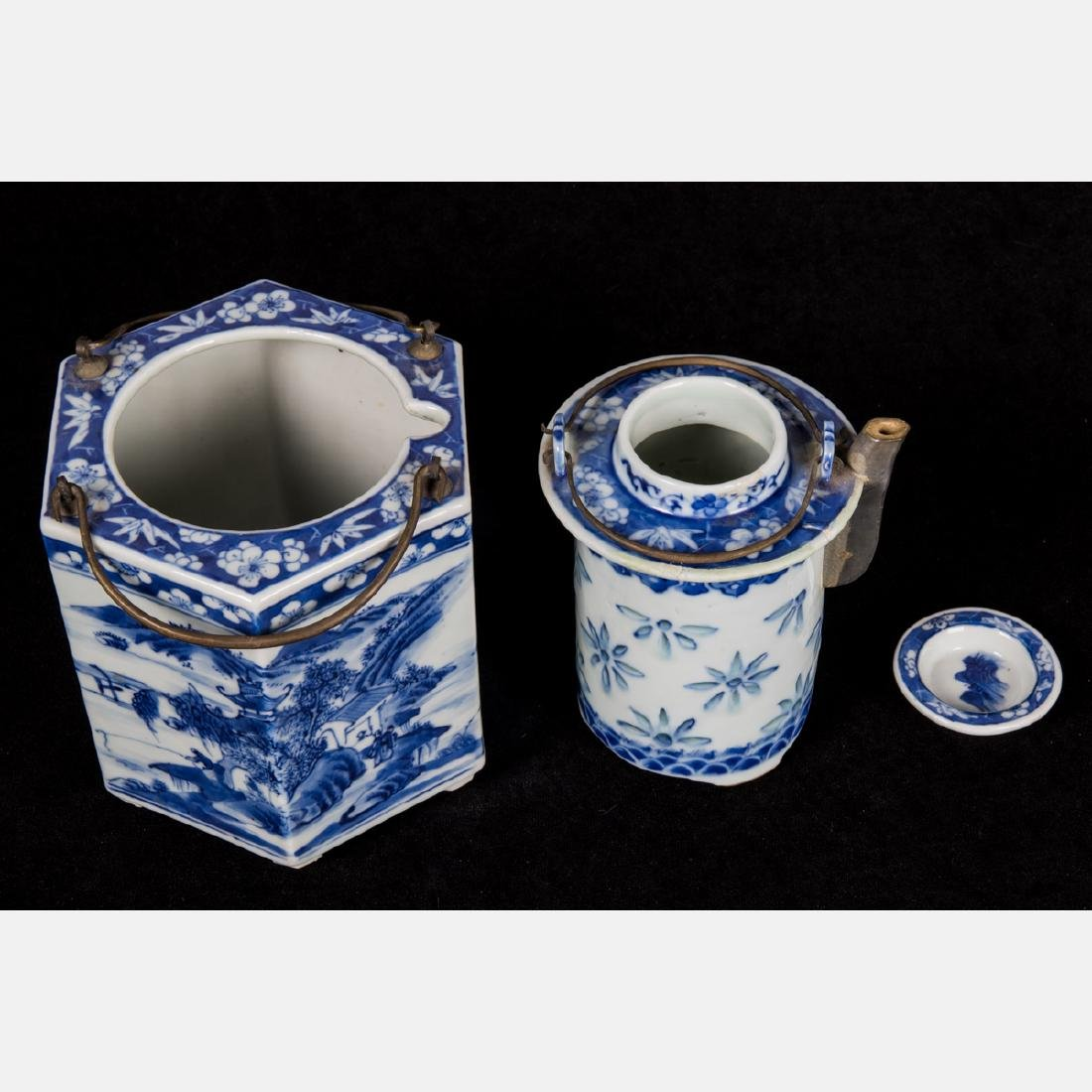 A Chinese Blue and White Porcelain Insulated, Hexagonal - 2