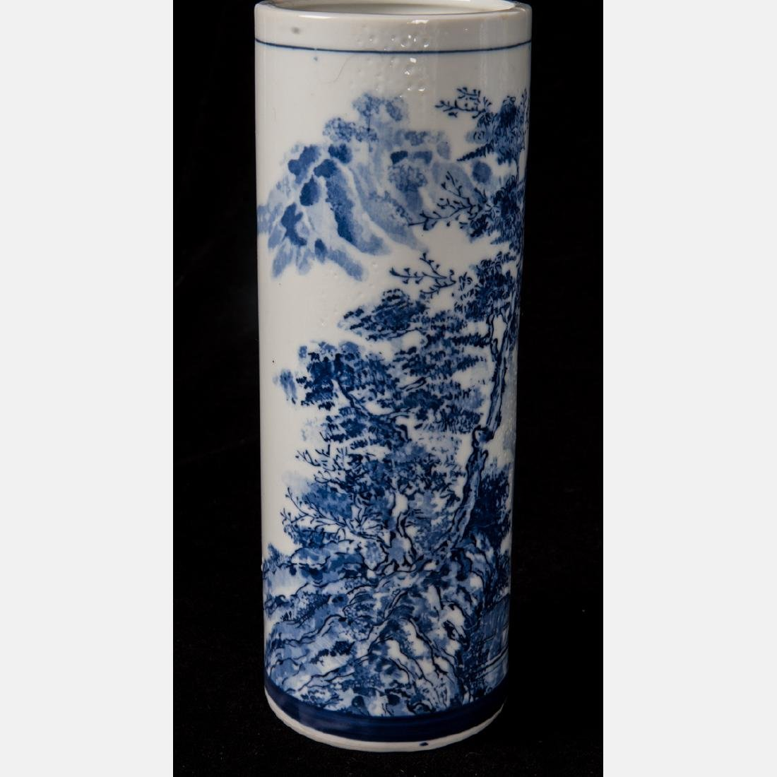 A Group of Six Asian Porcelain Vases, 20th Century, - 2