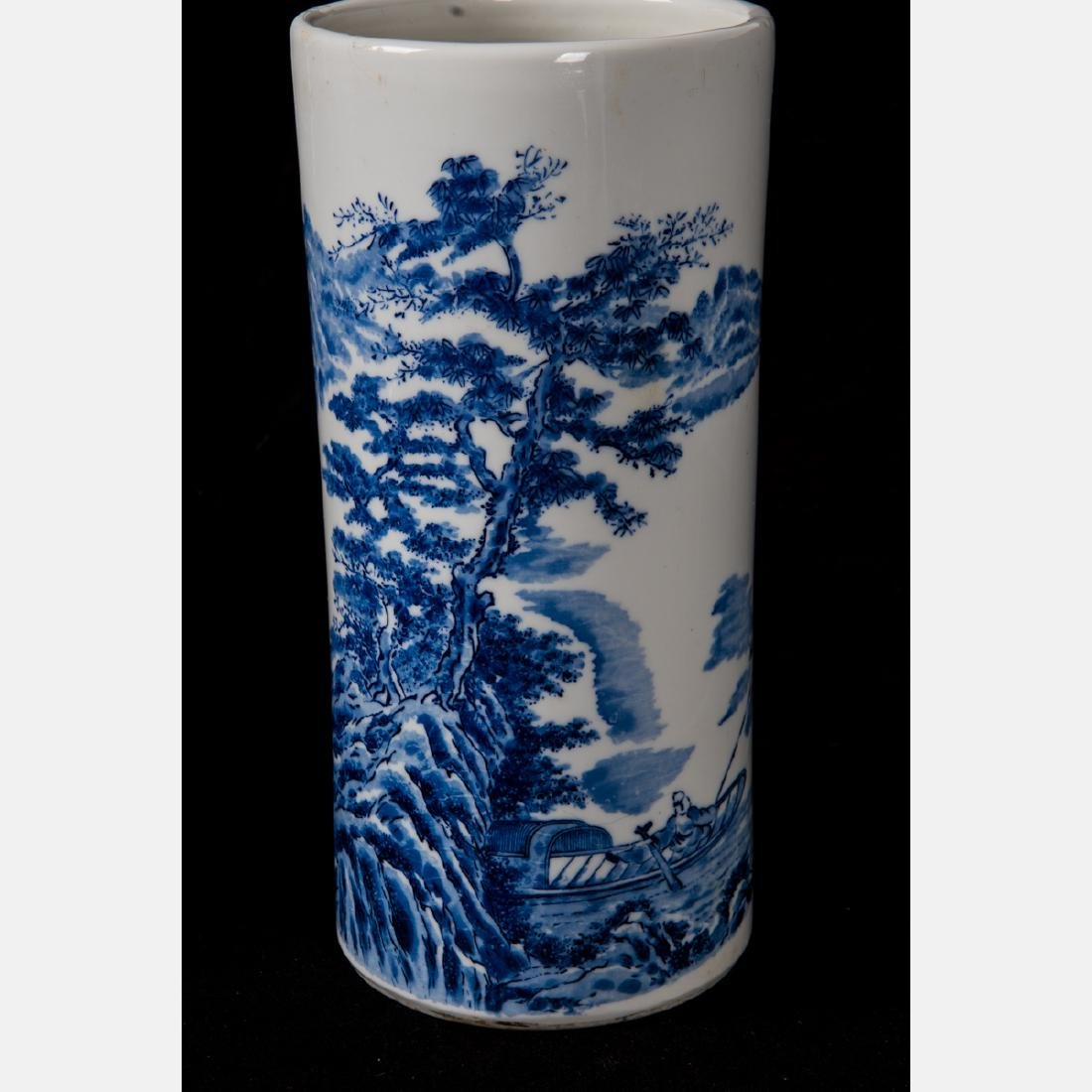 A Group of Six Asian Porcelain Vases, 20th Century, - 7