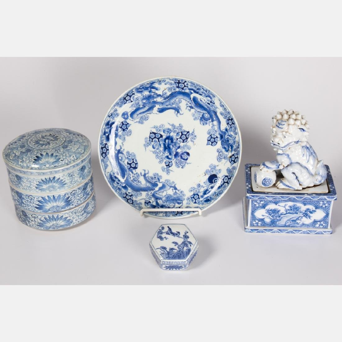 A Group of Three Chinese Blue and White Porcelain and