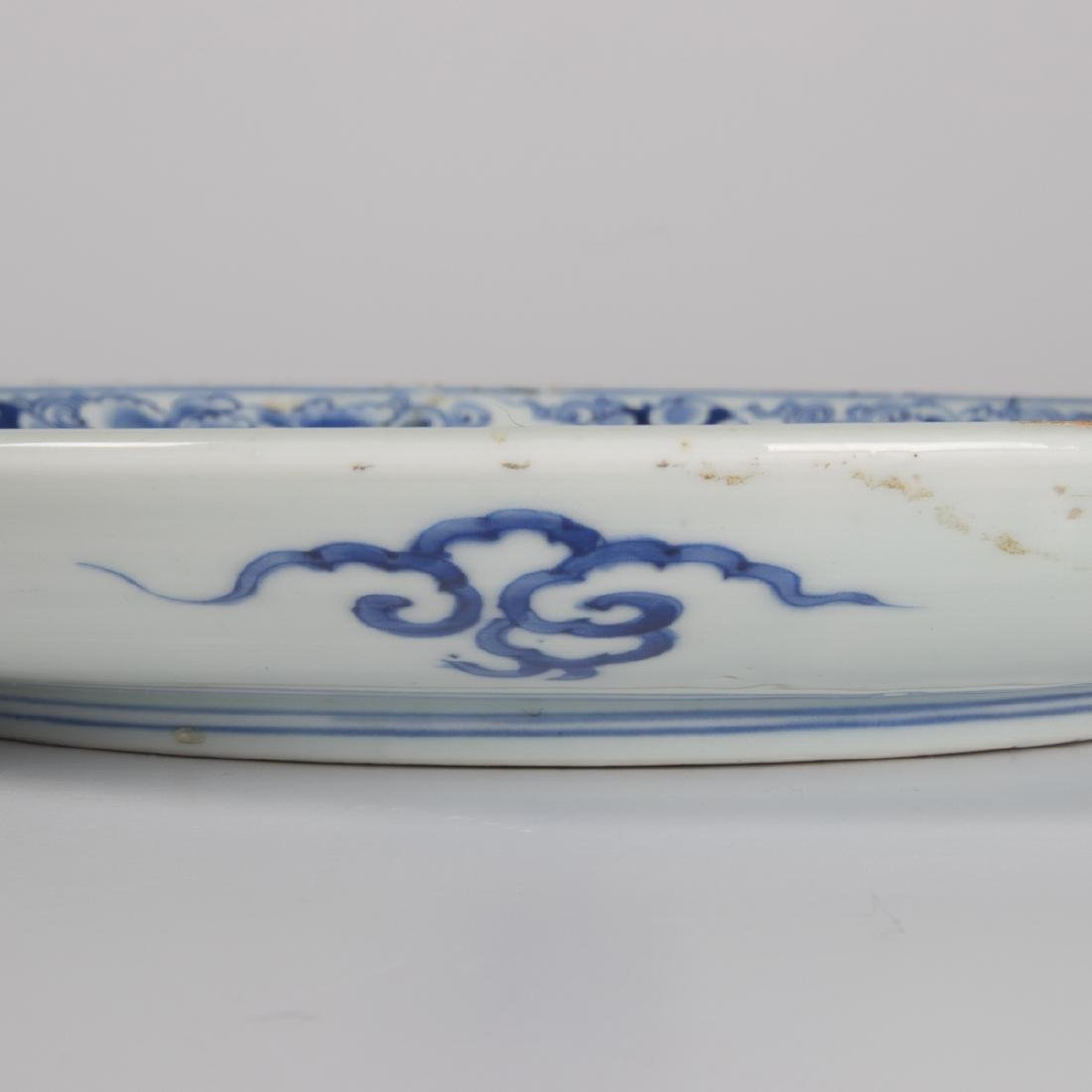 A Group of Three Chinese Blue and White Porcelain and - 2