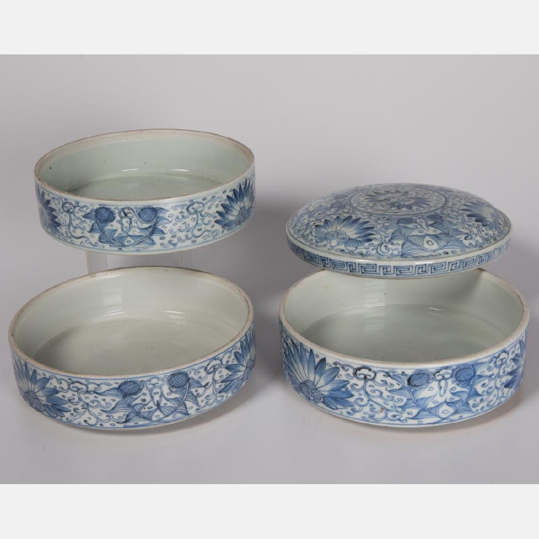 A Group of Three Chinese Blue and White Porcelain and - 4