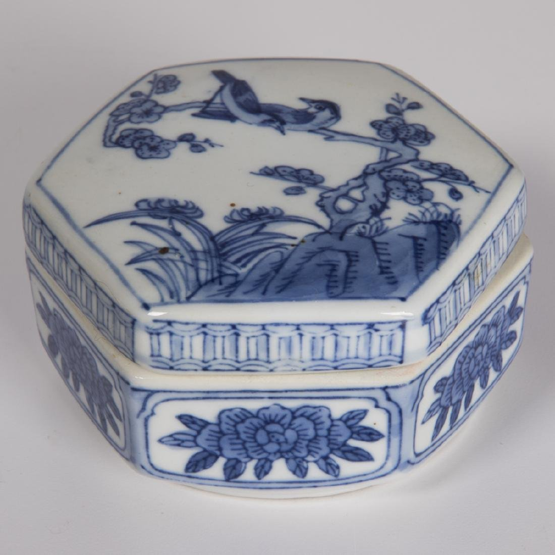 A Group of Three Chinese Blue and White Porcelain and - 8