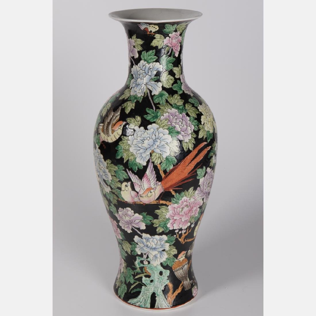 A Chinese Famille Noire Porcelain Vase, 20th Century.