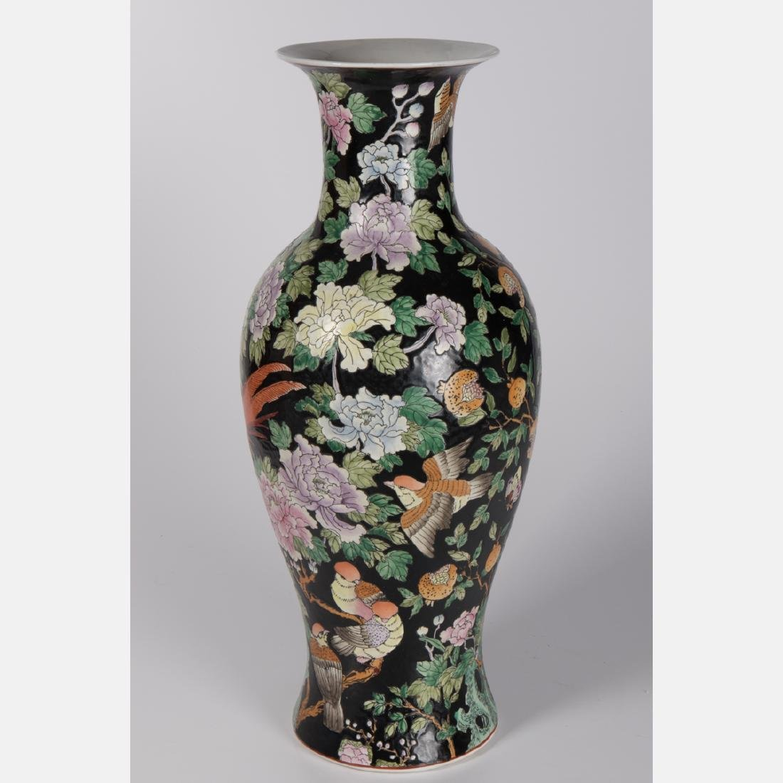 A Chinese Famille Noire Porcelain Vase, 20th Century. - 2