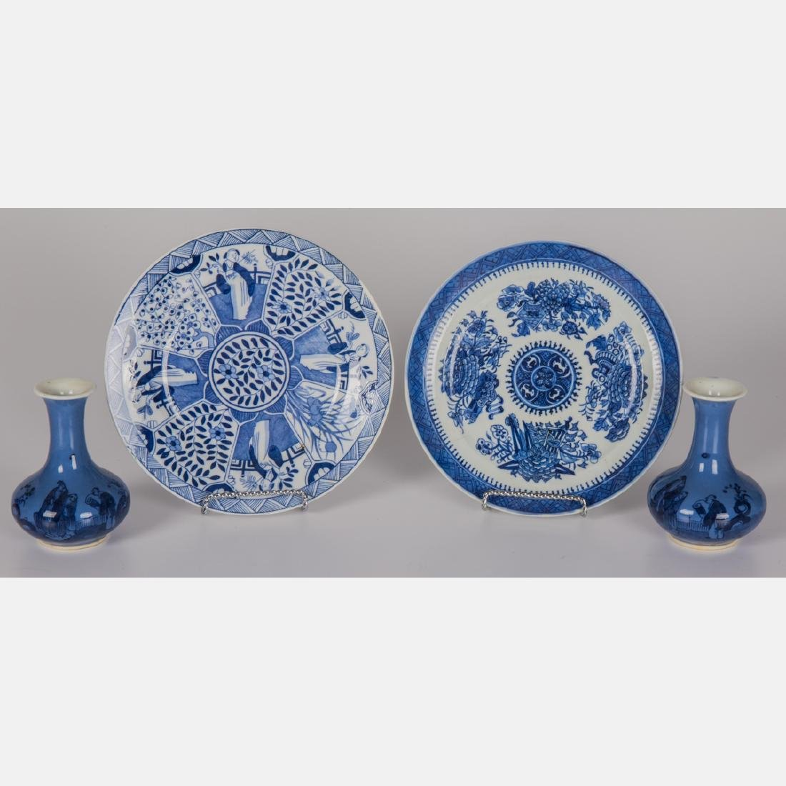 A Group of Four Asian Blue and White Porcelain