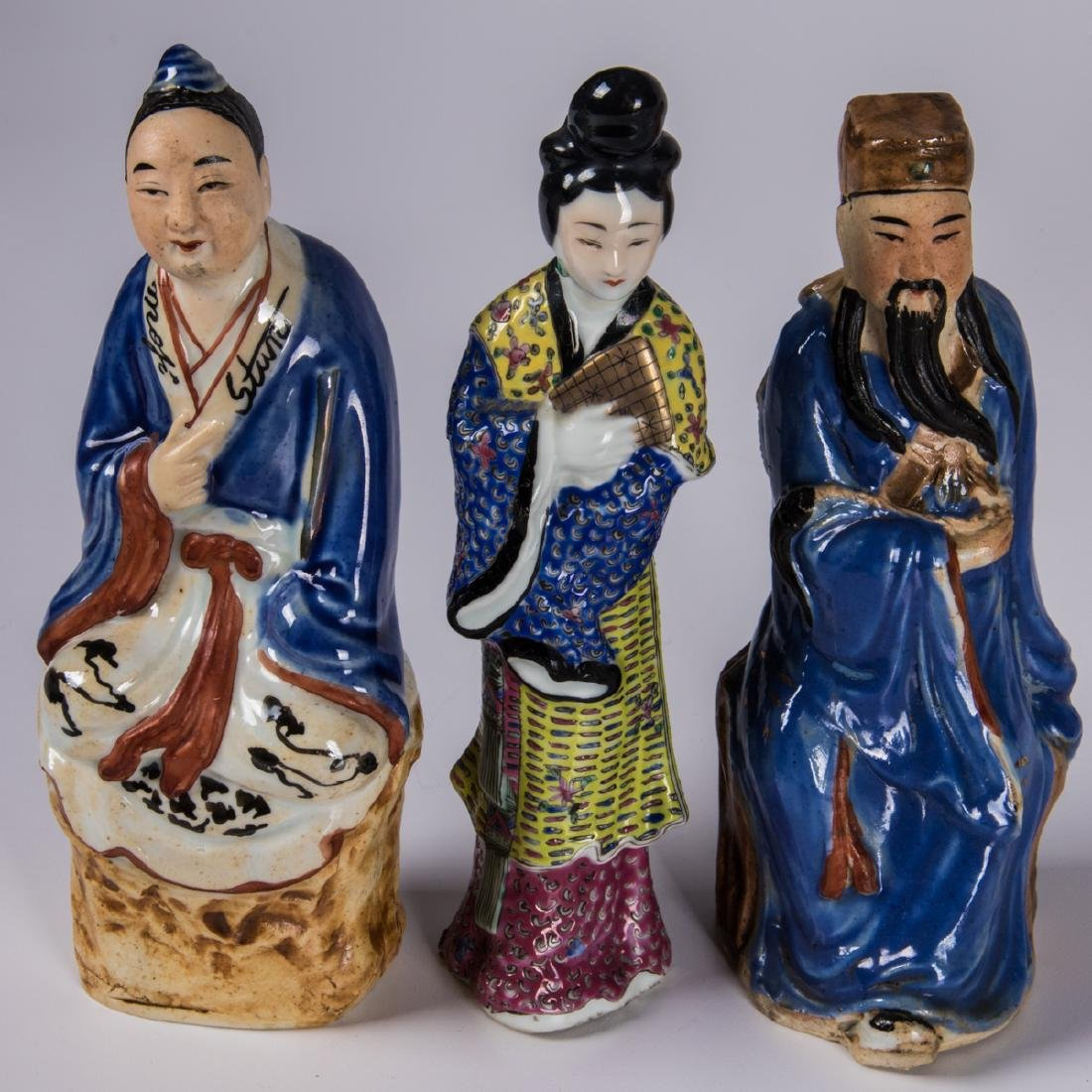 A Group of Ten Chinese Porcelain Figures of Men and - 2