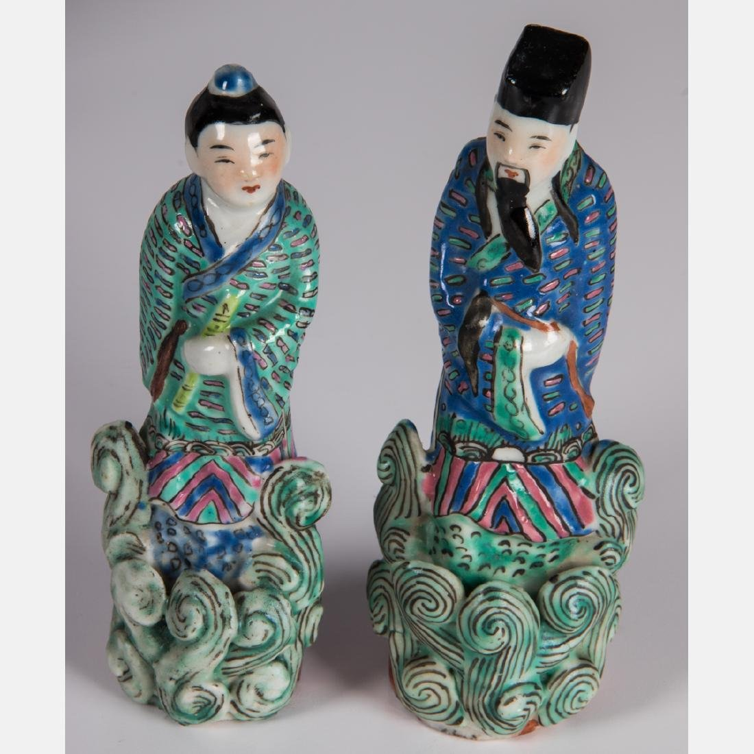 A Group of Ten Chinese Porcelain Figures of Men and - 3