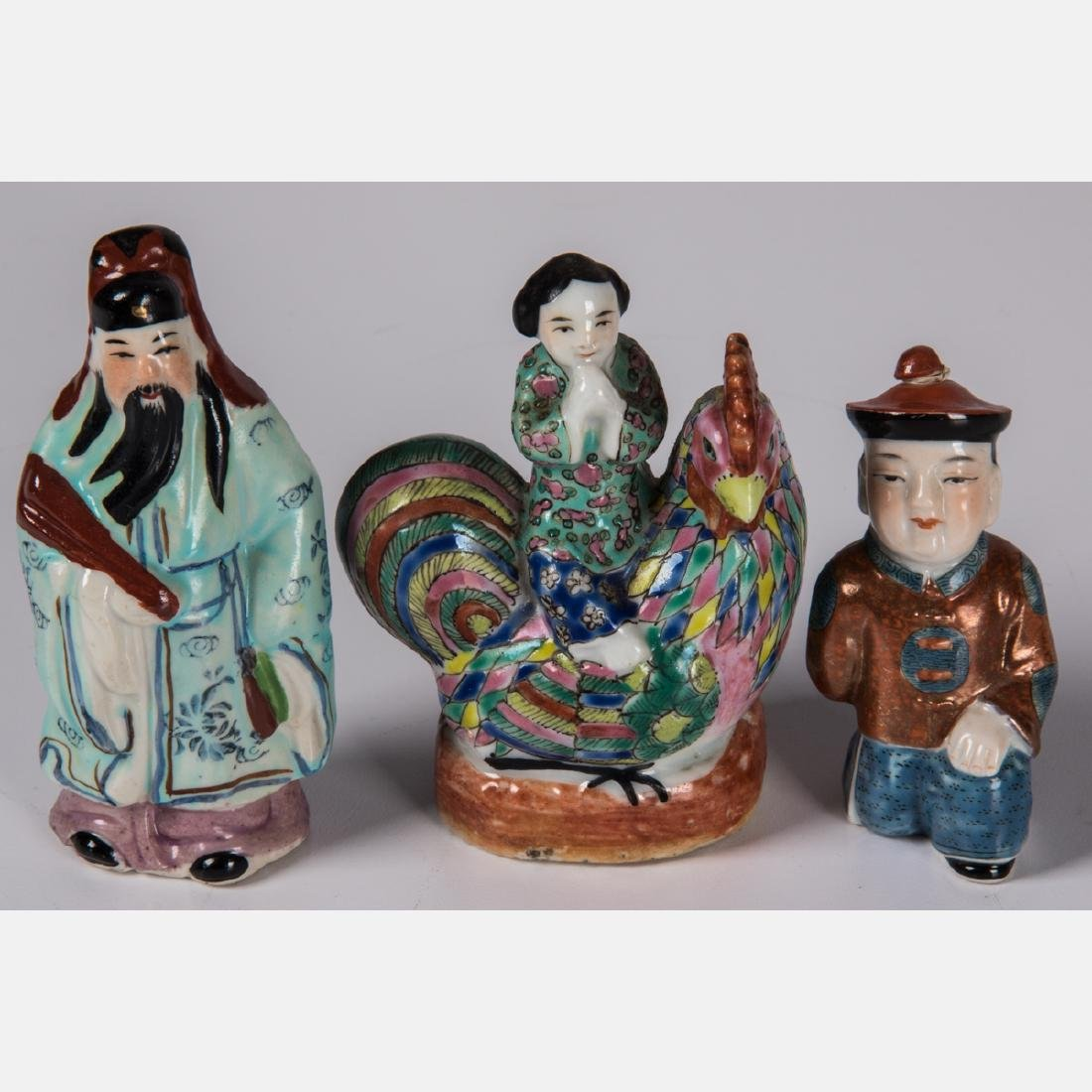 A Group of Ten Chinese Porcelain Figures of Men and - 5