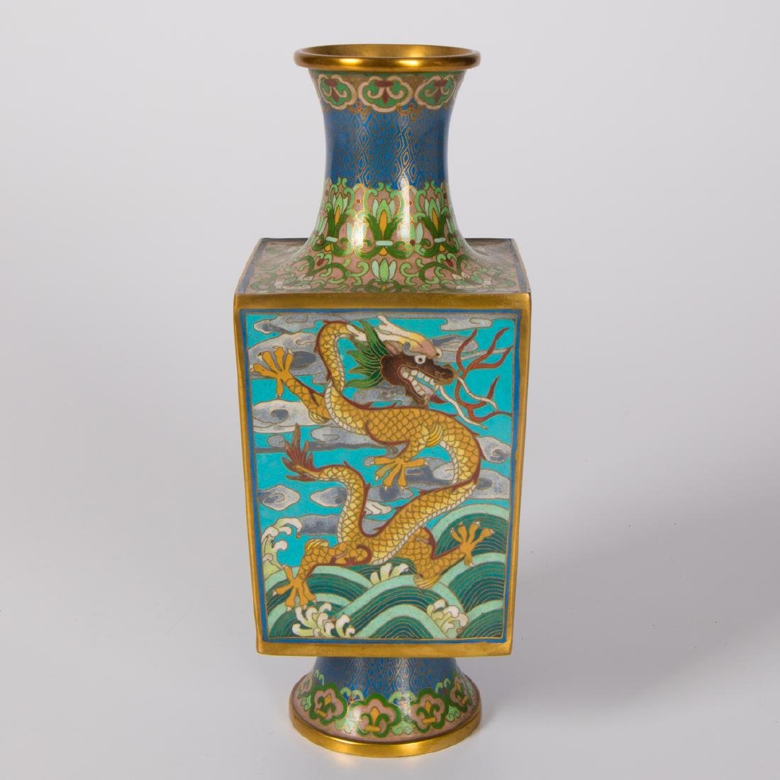 A Chinese Cloisonné Vase, 20th Century.